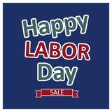 Happy Labour day card with typography vector. This Vector EPS 10 illustration is best for print media, web design, application design user interface and Royalty Free Illustration