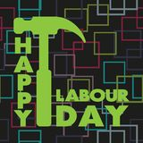Happy Labour day greeting card. Vector illustration. Happy Labour day greeting card. Vector illustration Vector Illustration