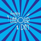 Happy Labour day greeting card. Vector illustration. Happy Labour day greeting card. Vector illustration Royalty Free Illustration