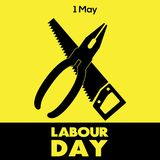 Happy Labour day greeting card. Vector illustration.  Royalty Free Illustration