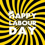 Happy Labour day greeting card. Vector illustration.  Vector Illustration