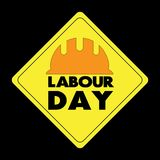 Happy Labour day greeting card. Vector illustration.  Stock Illustration