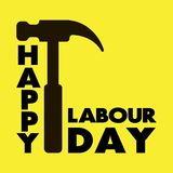 Happy Labour day greeting card. Vector illustration vector illustration