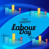 Happy Labour Day. Illustration of a Background For Happy Labour Day Royalty Free Stock Photo
