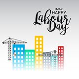 Happy Labour Day. Illustration of a Background For Happy Labour Day Stock Image