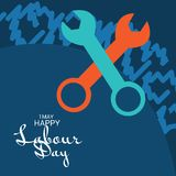Happy Labour Day. Illustration of a Background For Happy Labour Day Royalty Free Stock Photography