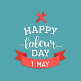 Happy Labour Day illustration concept with wrenches.1st of may vector background. International Workers day logo design. Happy Labour Day illustration concept Stock Illustration