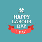 Happy Labour Day illustration concept with wrenches.1st of may vector background. International Workers day logo design. Royalty Free Stock Images