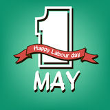 Happy Labour day. 1 May. Happy Labour day. green background. Vector illustration Stock Photos