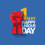 Happy labour day vector label Royalty Free Stock Photo