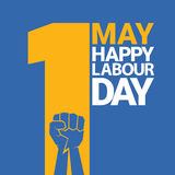 Happy labour day vector label Royalty Free Stock Image