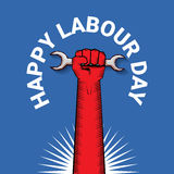 Happy labour day vector label Royalty Free Stock Photos