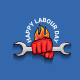 Happy labour day vector label Royalty Free Stock Photography