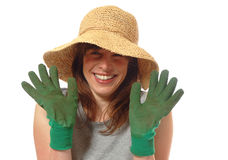 Happy Lady Gardener Royalty Free Stock Photos