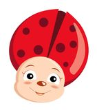 Happy ladybird Royalty Free Stock Photography