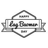 Happy Lag Baomer holiday greeting emblem Stock Photos