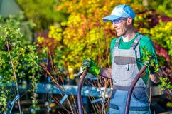 Happy Landscaping Worker Stock Photos