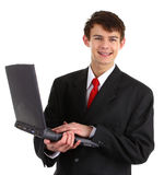 Happy laptop guy Royalty Free Stock Images