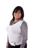 Happy large  latin woman Royalty Free Stock Images