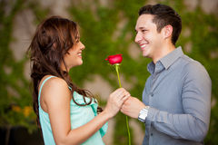 Happy Latin couple in love Royalty Free Stock Photo