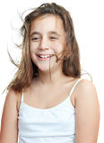 Happy latin girl smiling Stock Image