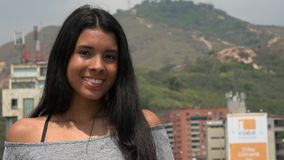 Happy Latina Teen Girl. Young attractive teen hispanic girl royalty free stock photography
