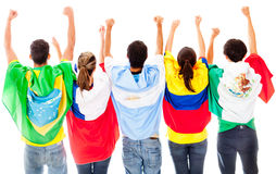 Happy Latinamerican group Stock Photography