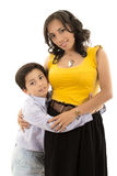 Happy latino family portrait mother and child- Royalty Free Stock Photo