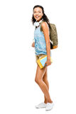 Happy latino mixed race woman student going back to school Stock Photos