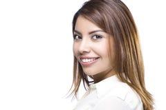 Happy Latino Woman. A Beautiful Hispanic Woman Portrait royalty free stock photos