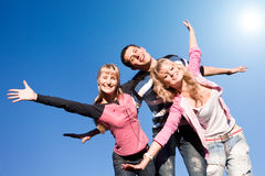 Happy laugh young team. Active Stock Photography