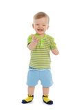 Happy laughing baby boy Stock Image