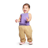 Happy laughing baby boy Royalty Free Stock Image