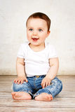 Happy laughing baby boy Stock Images