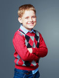 Happy laughing boy Stock Images