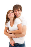 Happy laughing couple Stock Photo