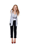 Happy laughing female Royalty Free Stock Images