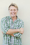 Happy laughing mature man Royalty Free Stock Image
