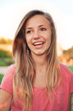 Happy Laughing Teen Girl Royalty Free Stock Images