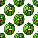 Happy laughing watermelon fruits Royalty Free Stock Photo