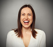 Happy and laughing woman Royalty Free Stock Image