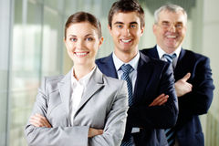 Happy leader Royalty Free Stock Image
