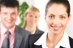 Happy leader Stock Image