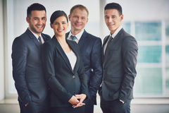 Happy leaders Stock Photo