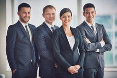 Happy leaders Stock Photos