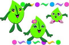 Happy Leaf Family Stock Photo