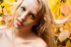 Happy leaf girl Royalty Free Stock Photo