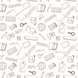 Happy learning doodle seamless pattern Royalty Free Stock Photography