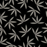 Happy leaves pattern. Happy leaves seamless pattern design Stock Image