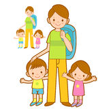 Happy Leaving the family trip. Home and Family Character Design Royalty Free Stock Images